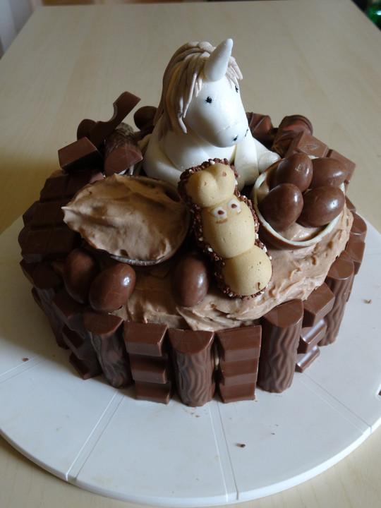 Top Einhorn-Kinderschokoladen-Torte von Blubbernläschen | Chefkoch.de @EE_49