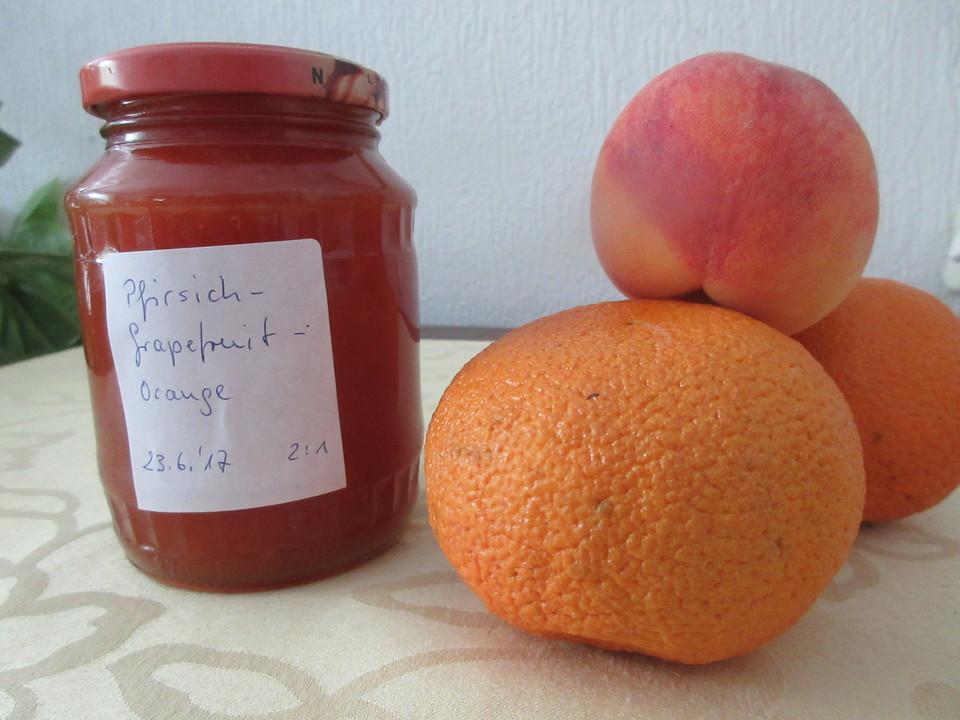 pfirsich zitrusfrucht konfit re rezept mit bild. Black Bedroom Furniture Sets. Home Design Ideas