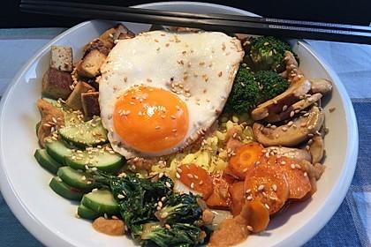 Bibimbap-Bowl vegetarisch