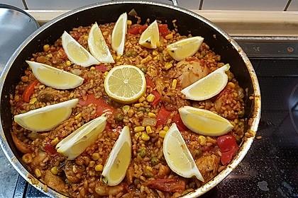 Paella mit Meeresfrüchten, Fisch und Geflügel nach Schnabulierer 1