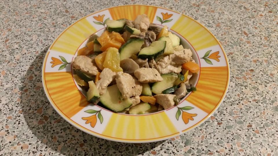 Sommerküche Low Carb : Schnelle low carb puten gemüse pfanne von küchen zauber chefkoch.de