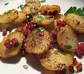 Leckere Bratkartoffeln aus rohen Kartoffeln