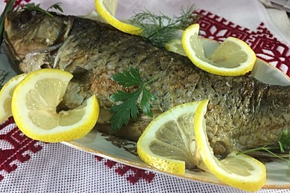 Gefüllter Karpfen - Gefillte Fisch