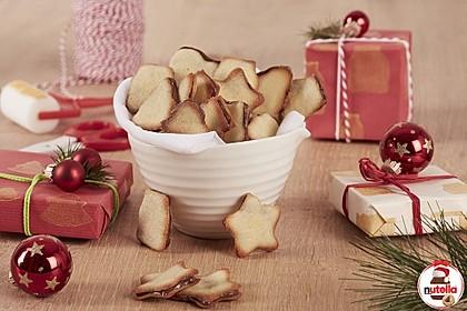Weihnachtliche Katzenzungen-Kekse mit nutella®