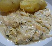 Stockfisch mit Porree