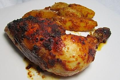 Marinierte Hähnchenunterkeulen aus dem Ofen 5
