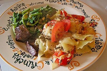 Kartoffeln-Tomaten-Basilikum Gratin 5