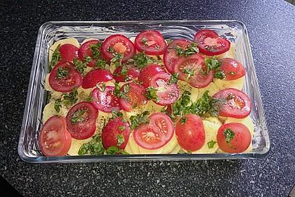 Kartoffeln-Tomaten-Basilikum Gratin 2