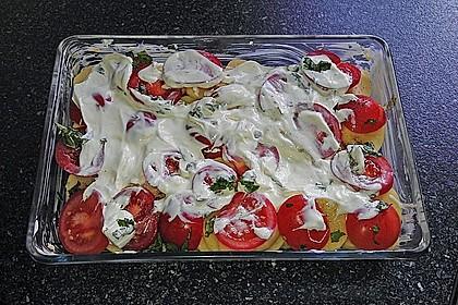 Kartoffeln-Tomaten-Basilikum Gratin 12