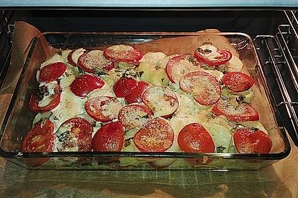 Kartoffeln-Tomaten-Basilikum Gratin 9