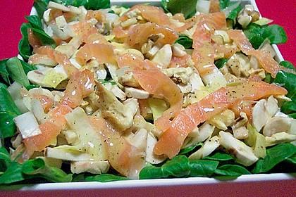 Feldsalat mit Räucherlachs 0