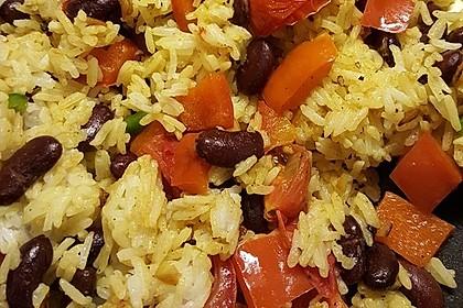 Kubanischer Reis - Bohnen - Topf