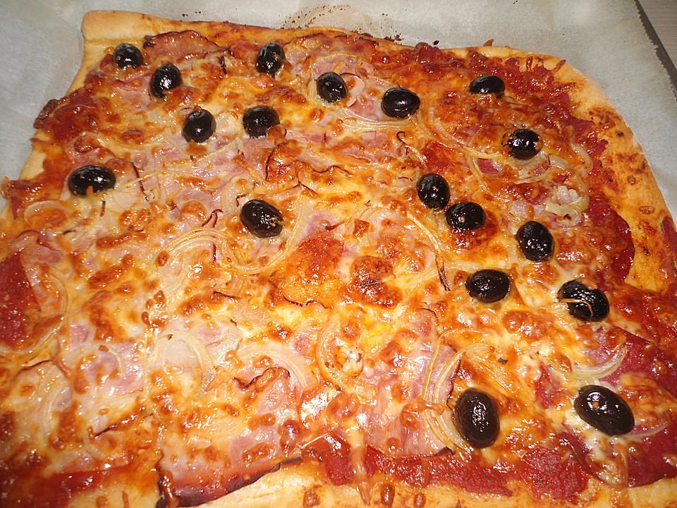 Pizza frische hefeteig
