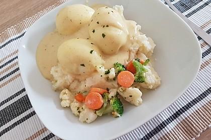 Senfeier mit buntem Gemüse 5