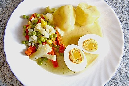 Senfeier mit buntem Gemüse 3