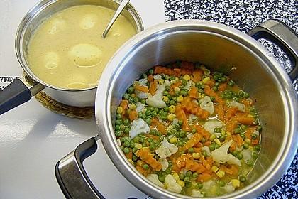 Senfeier mit buntem Gemüse 12