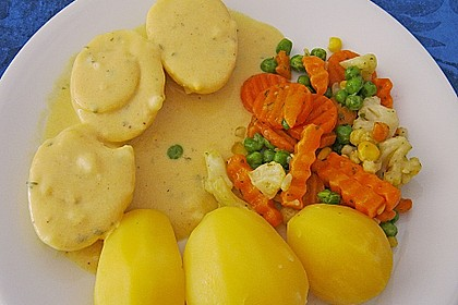 Senfeier mit buntem Gemüse 4