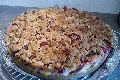 Zwetschgen-Streuselkuchen mit Pudding 133