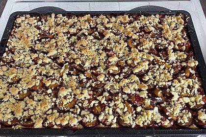 Zwetschgen-Streuselkuchen mit Pudding 80