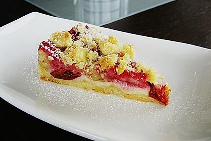 Zwetschgen-Streuselkuchen mit Pudding