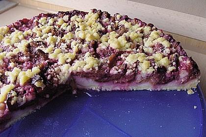 Zwetschgen-Streuselkuchen mit Pudding 90