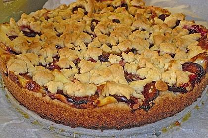 Zwetschgen-Streuselkuchen mit Pudding 60