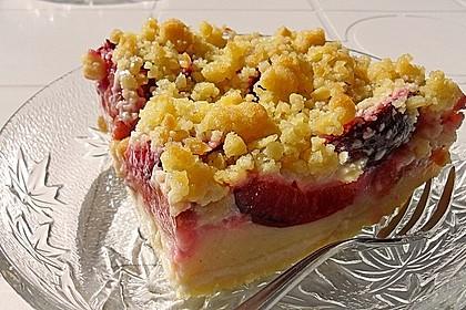 Zwetschgen-Streuselkuchen mit Pudding 7