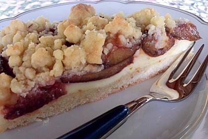 Zwetschgen-Streuselkuchen mit Pudding 11