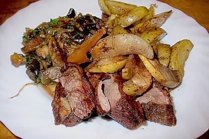Steinpilz - Rahmkartoffeln mit Entenbrust 16