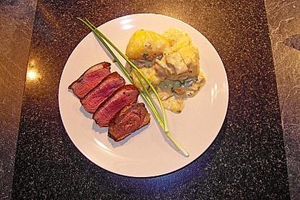 Steinpilz - Rahmkartoffeln mit Entenbrust 4