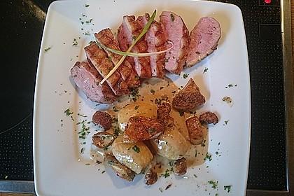 Steinpilz - Rahmkartoffeln mit Entenbrust 6