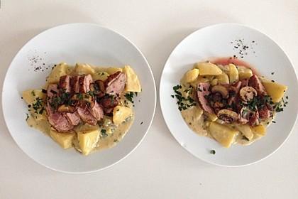 Steinpilz - Rahmkartoffeln mit Entenbrust 11