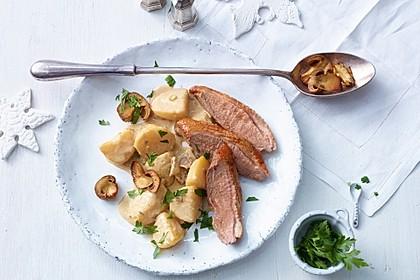 Steinpilz - Rahmkartoffeln mit Entenbrust 3