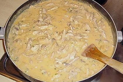 Schneller Stroganoff mit süß - sauren Backkartoffeln