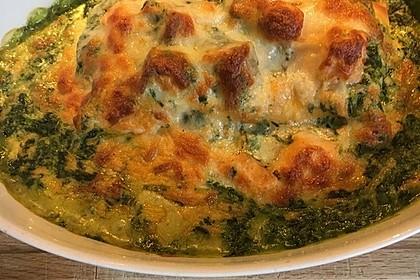 Lachs-Lasagne mit Spinat 41