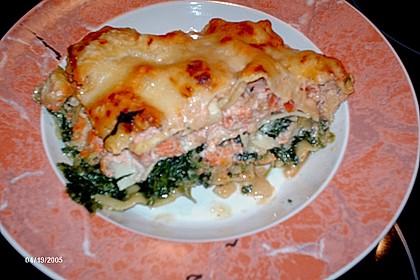 Lachs-Lasagne mit Spinat 121