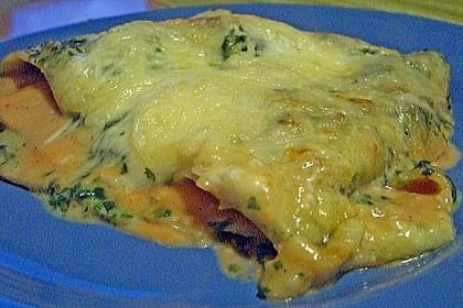 Lachs-Lasagne mit Spinat 104