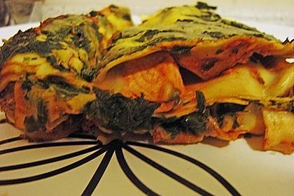 Lachs-Lasagne mit Spinat 111