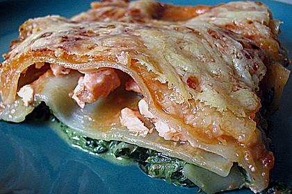 Lachs-Lasagne mit Spinat 16