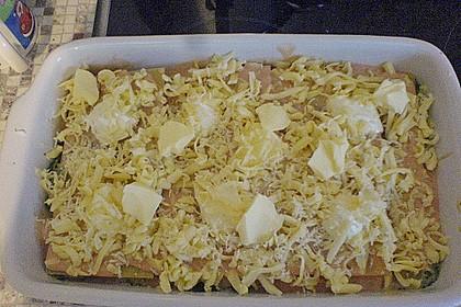 Lachs-Lasagne mit Spinat 115