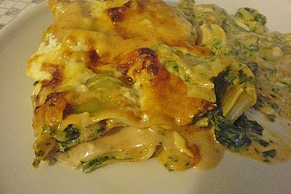 Lachs-Lasagne mit Spinat 105