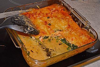 Lachs-Lasagne mit Spinat 34