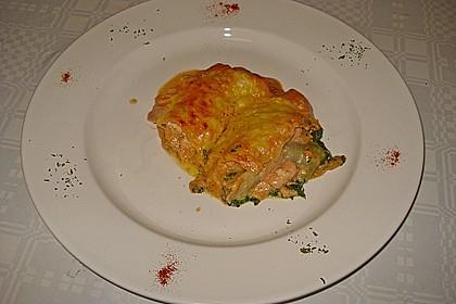 Lachs-Lasagne mit Spinat 78