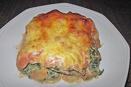 Lachs-Lasagne mit Spinat 56