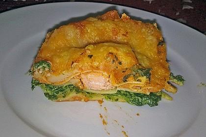 Lachs-Lasagne mit Spinat 14