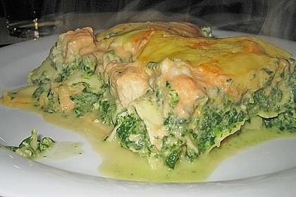 Lachs-Lasagne mit Spinat 21