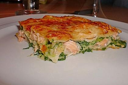 Lachs-Lasagne mit Spinat 2