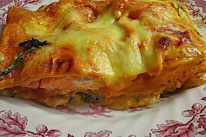 Lachs-Lasagne mit Spinat 8