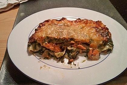 Lachs-Lasagne mit Spinat 86