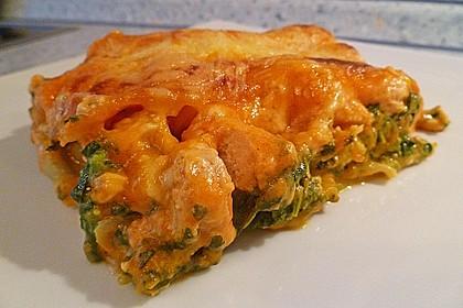 Lachs-Lasagne mit Spinat 19
